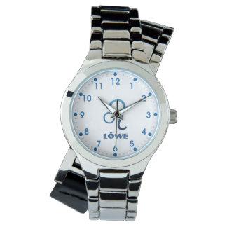 Blau Löwe Löwe Tierkreis Uhr