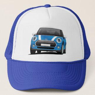 Blau Mini Coopers S (F56) mit weißen Streifen Truckerkappe