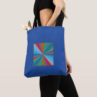 Blau mit Farbrad-Entwurf >Patterned Taschen