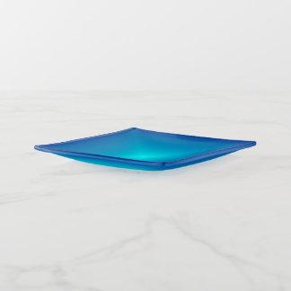 Blau mit helles Aqua Centre> modischen Dekoschale