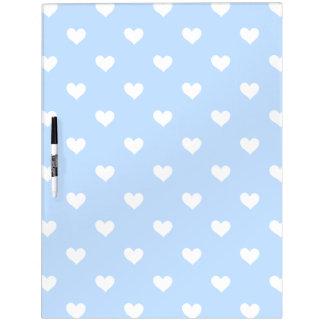 Blau mit weißes Herz-trockenem Löschen-Brett Whiteboard