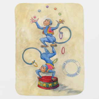 Blau Monkeys Baby-Decke Kinderwagendecke