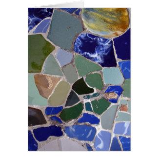 Blau-Mosaiken Antoni Gaudi Grußkarte