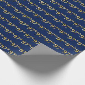 Blau, (Neunzig-7.) Ereignis des Imitat-Gold97. Geschenkpapier