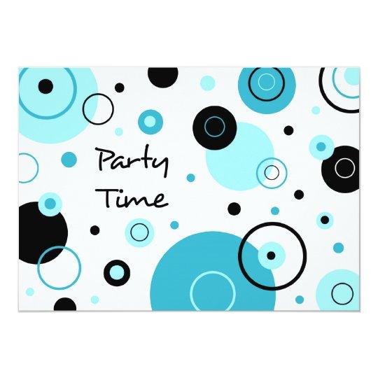 Blau punktiert Abschluss-Party Einladungs-Karte 12,7 X 17,8 Cm Einladungskarte