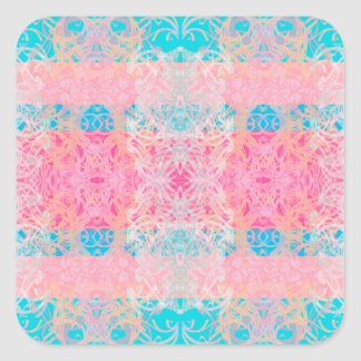 blau quadratischer aufkleber