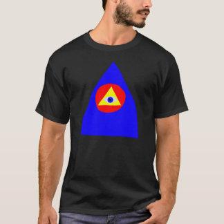 Blau, rot, Gelb T-Shirt
