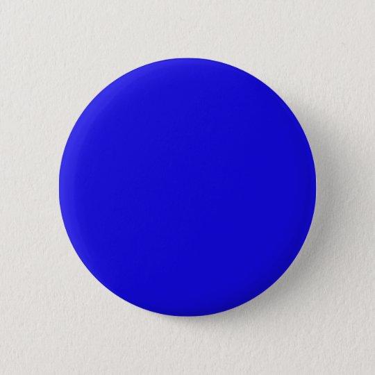 Blau Runder Button 5,1 Cm