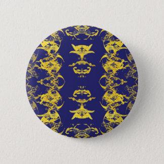 blau runder button 5,7 cm