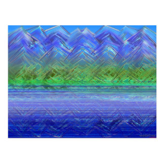Blau sah Mtn Seereflexion Postkarte