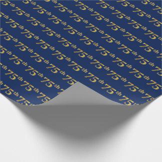 Blau, (Siebzig-Fünftes) Ereignis des Geschenkpapier