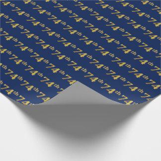 Blau, (Siebzig-Viertes) Ereignis des Geschenkpapier