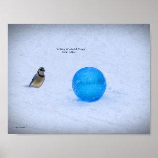 Blau - so viele wunderbaren Sachen kommen in Blau Poster