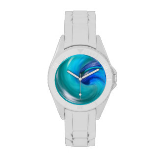 Blau-Spirale Armbanduhr