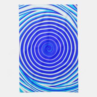 Blau-Spirale Geschirrtuch
