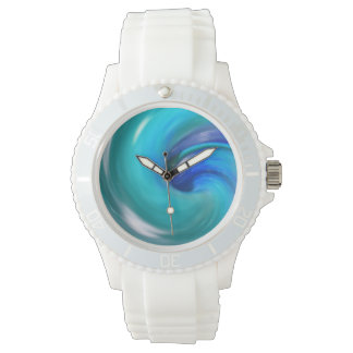 Blau-Spirale Uhren