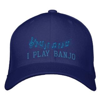 Blau stickte i-Spiel-Banjo-Musik-Kappe Bestickte Kappe