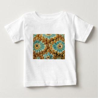 Blau Tanentwurf von Formen Baby T-shirt