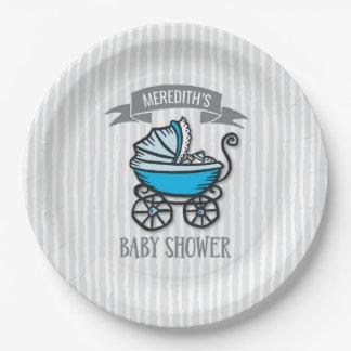 Blau-Themenorientierte Babyparty Pappteller