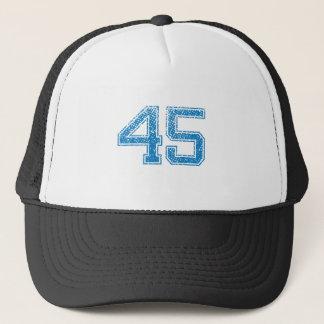 Blau trägt Jerzee Nr. 45 zur Schau Truckerkappe
