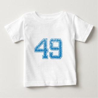 Blau trägt Jerzee Nr. 49 zur Schau Baby T-shirt