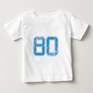 Blau trägt Jerzee Nr. 80 zur Schau Baby T-shirt