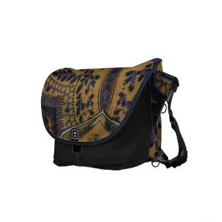 Blau u. Entwurfs-Bote-Tasche TANs Paisley Kuriertaschen