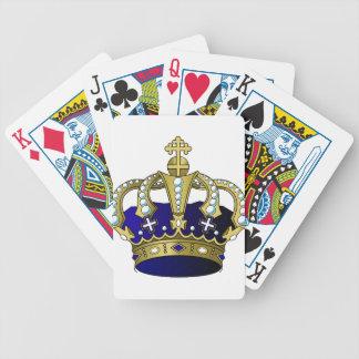 Blau-u. Goldkönigliche Krone Bicycle Spielkarten