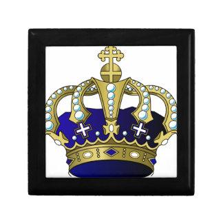 Blau-u. Goldkönigliche Krone Geschenkbox