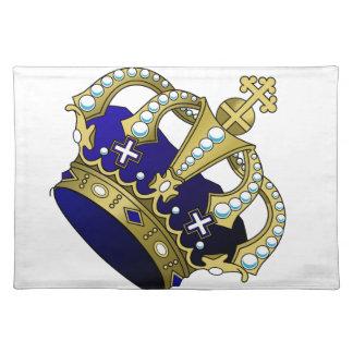 Blau-u. Goldkönigliche Krone Tischset