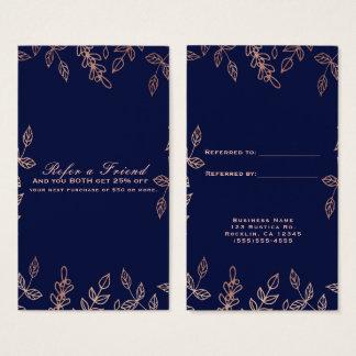 Blau-u. Rosen-Goldbezaubernde botanische verweisen Visitenkarte