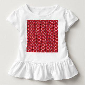 Blau-u. Weiß-Sterne auf Rot Kleinkind T-shirt