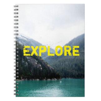 Blau überlagert Notizbuch Spiral Notizblock