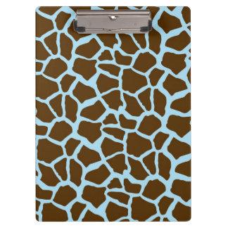 Blau und Brown-Giraffen-Tierdruck