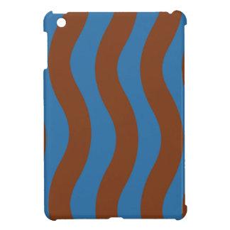 Blau und Brown-Wellen-Streifen iPad Mini Hülle