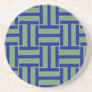 Blau-und des Erbsen-Grün-T Webart Untersetzer