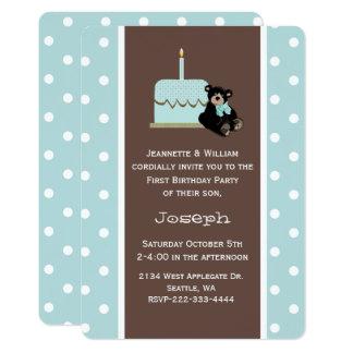 Blau und erste der Geburtstags-Einladung Karte