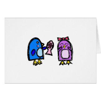 Blau- und Gekicheranmerkungskarte Karte