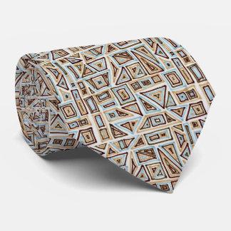 Blau und geometrisches Muster Browns Personalisierte Krawatten