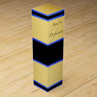 Blau und Gold gealtert zur Perfektion Weinbox