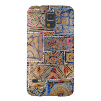 Blue and Gold Infused Tapestry Quilt Phone Design