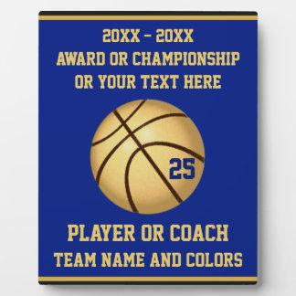 Blau-und Goldbasketball-Preis für Spieler, Zug Fotoplatte