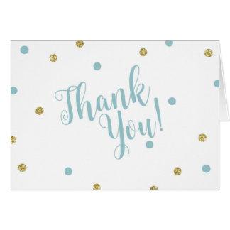 Blau-und GoldGlitzer danken Ihnen Karten