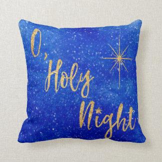 Blau-und -goldGlitzer O heiliger Nacht Kissen