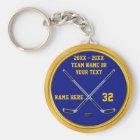 Blau-und Goldhockey Keychain Geschenke Schlüsselanhänger