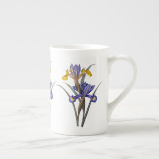 Blau und Goldiris Redoute Knochen-China-Tasse Porzellantasse