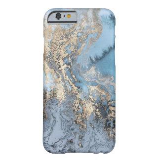 Blau-und Goldmarmortelefon-Kasten Barely There iPhone 6 Hülle