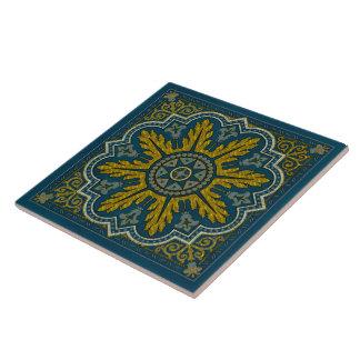 Blau-und Goldstern-Punkt-Deko Keramikfliese