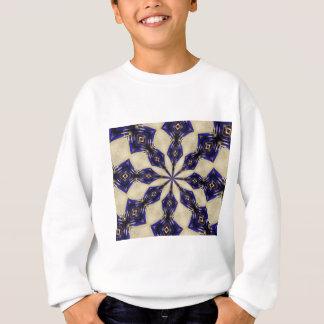 Blau und Granat Kaliedoscope Sweatshirt