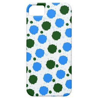 Blau-und Grün-Spritzen-Punkte iPhone 5 Etui